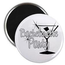 Black & White Martini Bachelo Magnet