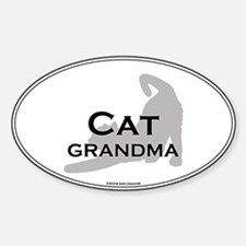 Cat Grandma Oval Decal
