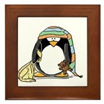 Bedtime Penguin Framed Tile