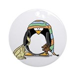 Bedtime Penguin Ornament (Round)