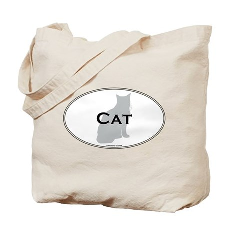 House Cat Oval Tote Bag