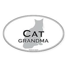 House Cat Grandma Oval Decal