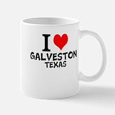 I Love Galveston, Texas Mugs