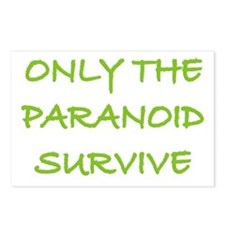 Only The Paranoid Survive Postcards (Package of 8)