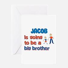 Jacob - Going to be a Big Bro Greeting Card