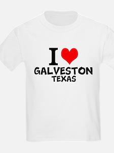I Love Galveston, Texas T-Shirt