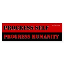 Progress Self - 3 - Bumper Bumper Sticker