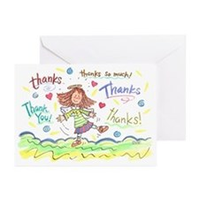 Dancing Angel Thanks Greeting Cards (Pk of 10)