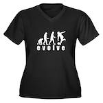 Evolve Bowling Women's Plus Size V-Neck Dark T-Shi