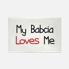 My Babcia Loves Me Rectangle Magnet