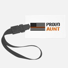 U.S. Flag Orange Line: Proud Aun Luggage Tag