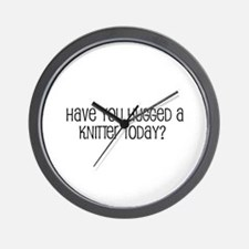 Have You Hugged a Knitter Tod Wall Clock