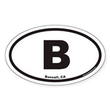 Bonsall B Euro Oval Decal