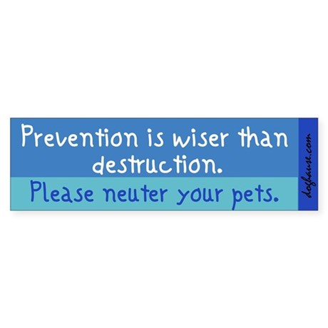 Prevention is Wiser Bumper Sticker