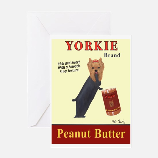 Yorkie Peanut Butter Greeting Card