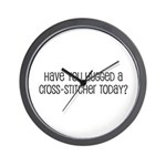Have You Hugged a Cross-Stitc Wall Clock