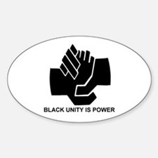 Black Unity is Power Oval Decal