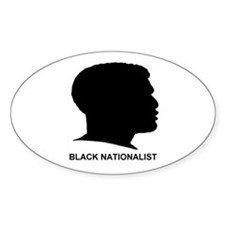 Black Nationalist Oval Decal