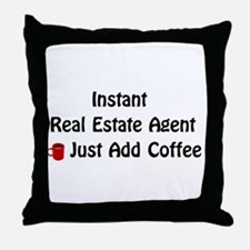 Real Estate Agent Throw Pillow