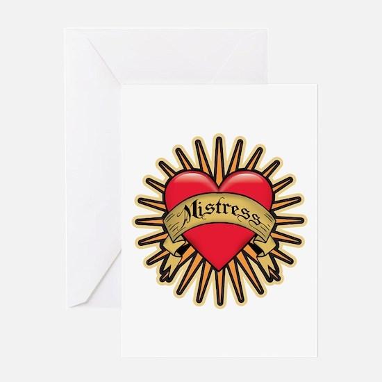 Mistress Heart Tattoo Greeting Card