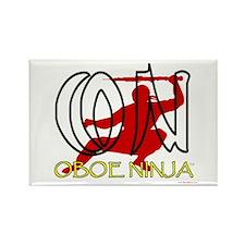 Oboe Ninja Rectangle Magnet