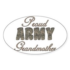 ACU Army Grandmother Oval Decal