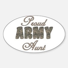 ACU Army Aunt Oval Decal