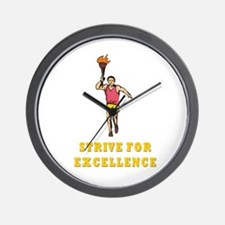 Strive for Excellence Wall Clock