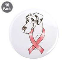"NL Pink Ribbon 3.5"" Button (10 pack)"
