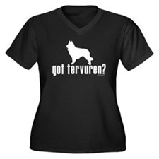 got belgian tervuren? Women's Plus Size V-Neck Dar