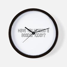 Have You Hugged a Beader Toda Wall Clock