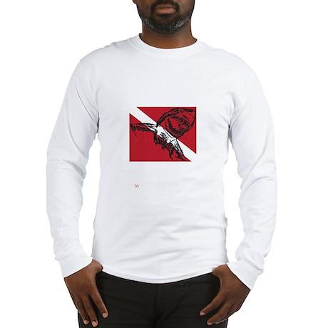 SHARK DIVER BLACK.psd Long Sleeve T-Shirt