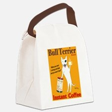 Bull Terrier Coffee Canvas Lunch Bag
