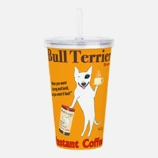 Bull Terrier Coffee Acrylic Double-wall Tumbler