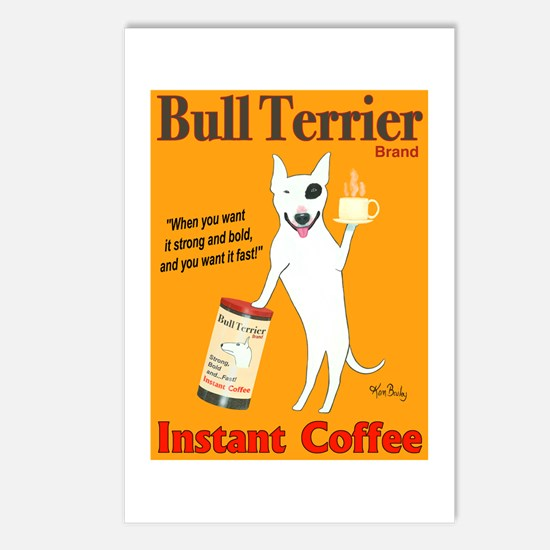 Bull Terrier Coffee Postcards (Package of 8)