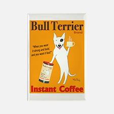Bull Terrier Coffee Rectangle Magnet