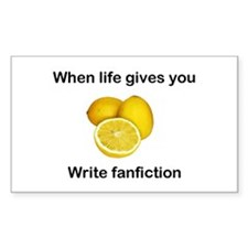 Write Fanfiction Rectangle Decal