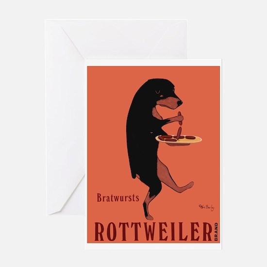 Rottweiler Bratwursts Greeting Card