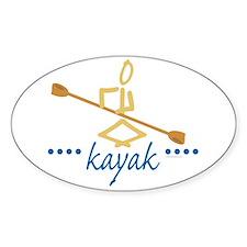 Kayak Oval Decal