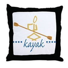 Kayak Throw Pillow