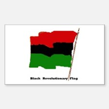 SBlack Revolutionary Flag Rectangle Decal