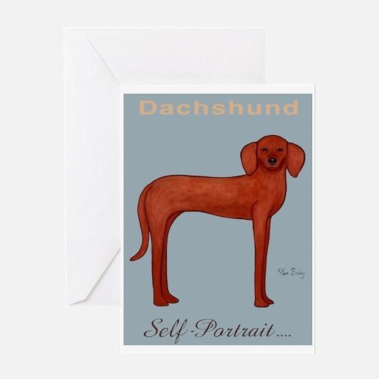 Dachshund Self-Portrait Greeting Card
