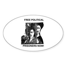 Free Political Prisoners Oval Decal