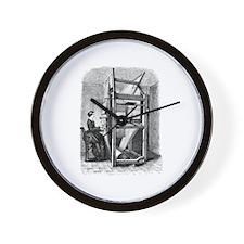 Weaver - Woman at Weaving Loo Wall Clock