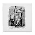 Weaver - Woman at Weaving Loo Tile Coaster