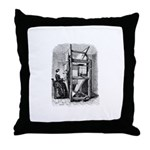 Weaver - Woman at Weaving Loo Throw Pillow