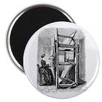 Weaver - Woman at Weaving Loo Magnet