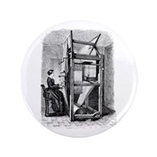 """Weaver - Woman at Weaving Loo 3.5"""" Button (100 pac"""