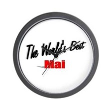 """The World's Best Mai"" Wall Clock"