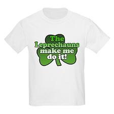 Leprechauns Make Me Do It Shamrock T-Shirt